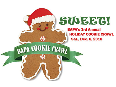 BAPA Cookie Crawl is Dec. 8, 2018